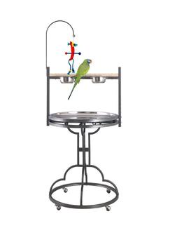 """HQ Parrot Play Stand- #42828A- 28""""Diameter. Platinum. Free S"""