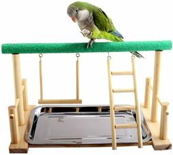 Parrot Playstand Bird Play Stand Cockatiel Playground Wood P