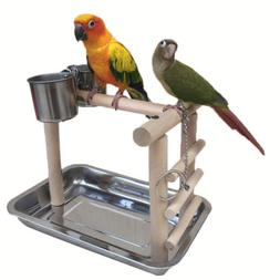Parrot Playstand Bird Playground Perch Gym with Toys Exercis