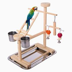 QBLEEV Parrot Playstand Perch Bird Play Stand Small Birds Pl