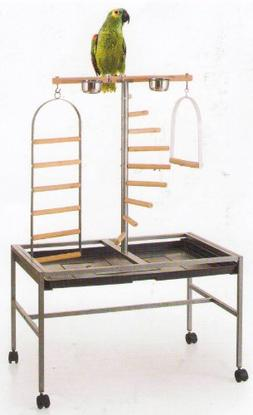 Large Parrot Playstand, Wrought Iron Parrot Bird Play Gym Gr