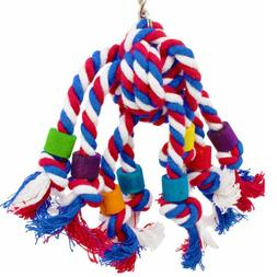 Parrot Soft Rope Hanging Braided Budgie Chew Rope <font><b>P