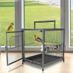 Parrot Travel Carrier Cockatiel Macaws Cage Portable Aviary