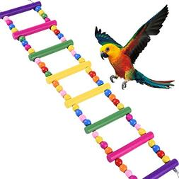 Hapa Parrot Wooden Bird Ladder Cage - Pet Toys for Parakeets