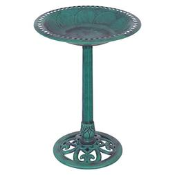 Giantex Pedestal Bird Bath Feeder Freestanding Outdoor Garde