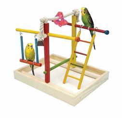 Penn Plax Wood Bird Playpen