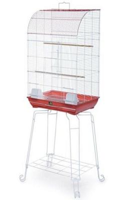 Prevue Hendryx Penthouse Bird Cage Curved Top With Stand Red