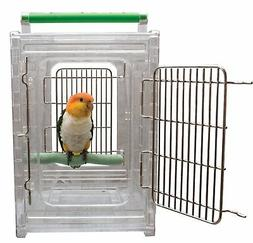 CaitecPerch & Go Polycarbonate Bird Carrier, Clear View Trav