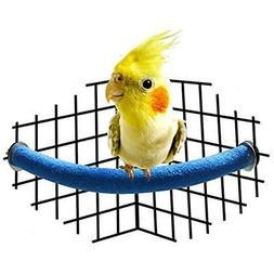 Perches Parrot Rough-surfaced Quartz Sands Corner Bird Cage