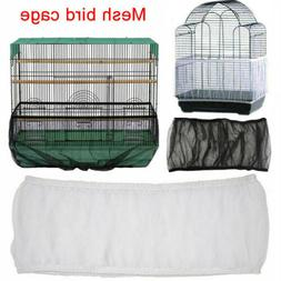 Pet Bird Cage Seed Catcher Tidy Guard Cover Shell Skirt Net
