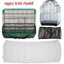 Pet Bird Cage Seed Catcher Tidy Guard Cover Shell Skirt Net