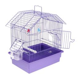 Pet Bird Cage with Stand Stick, Parrot Parakeet Conure House