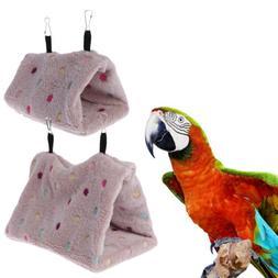 Pet Bird Hanging Cave Cage Tent Bed Birds Winter Warm Nest B