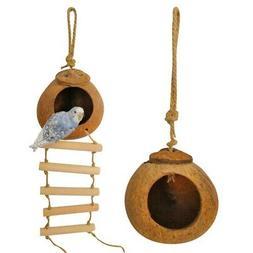 pet bird hanging coconut house bird nest