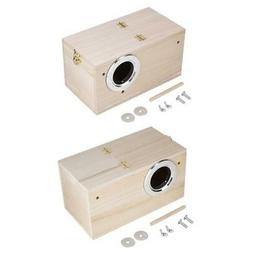 Pet Bird House Breeding Nest Birds Box Parrot Finch House Ca