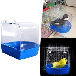 Pet Bird Parrot Bathing Tub Shower Cage Hanging Birdbath For