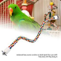 Pet Bird Parrot Rope Cockatiel Parakeet Cage Standing Perch