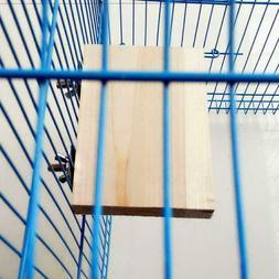 Pet Bird Parrot Toy Wood Hanging Cages Parakeet Stand Platfo