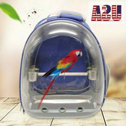 Pet Bird Parrot Travel Carrier Backpack Cage with Stand Perc