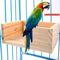 Pet Bird Perch Parakeet Parrot Stand Platform Food Feeder Co