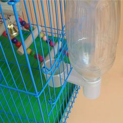 Pet Bird Plastic Drinker Feeder Water Bottle Cup Accessory F