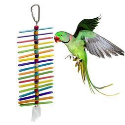 Pet Bird Toys Bird Cage Swing Climb Ladder Hanging Chew Toys