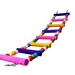 Vktech® Pet Bird Wood Ladder Climb Parrot Macaw Cage Swing