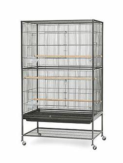 Pet Birds Cage Wrought Iron Flight with PullOut Grille and D