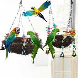 Pet Birds Nest Hammock Swing For Cockatiel Macaw Parrot Cage