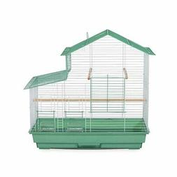 Prevue Pet Cockatiel House Bird Cage Green Single Pack 26 X