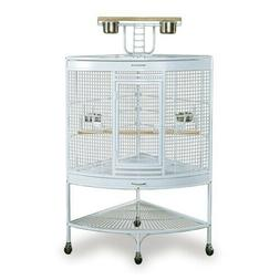 Prevue Pet Products Large Corner Bird Cage 3156W White, 37-I