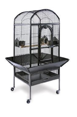 Prevue Pet Products Small Dometop Bird Cage 3161BLK, Black H