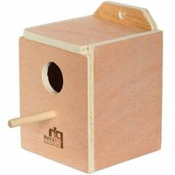 Prevue Pet Finch Nest Box Hardwood 4 7/8 Inch L X 4 7/8 Inch