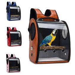 Pet Parrot Bird Backpack Carrier ravel Space Capsule Transpa