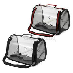 Pet Parrot Bird Carry Backpack Breathable Cage Travel Mesh B