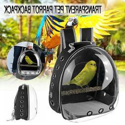Pet Parrot Carrier Bird Travel Bag Space Capsule Transparent