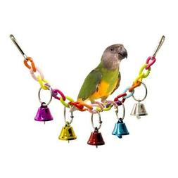 Pet Parrot Rope with Bell Swing Bird Cage Cute Budgie Cockat