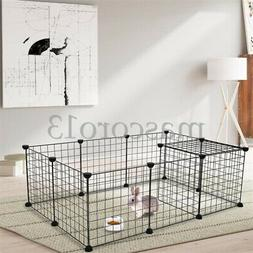 Pet Playpen, Small Animal Cage Indoor Portable Metal Wire Ya