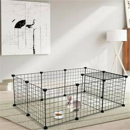 Pet Playpen, Small Animal Cage Indoor Portable Metal Wire Do