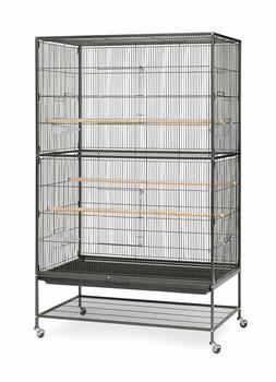 Prevue Hendryx Pet Products Wrought Iron Flight Cage - Black