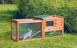 Trixie Pet Products Outdoor Run Rabbit Hutch, Glazed Pine