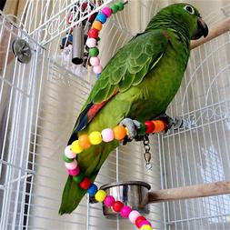 Pet Swing Bird Toy Parrot Rope Harness Cage Accessories Hang