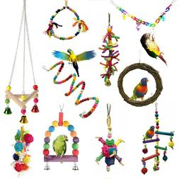 Pet Toy Swing Bird Toy Parrot Rope Harness Cage Hang Toys Fo