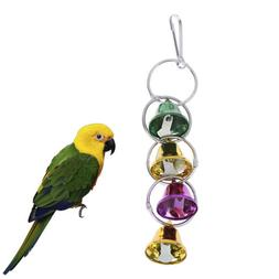 Pet Toy Play Bell Chew Toy Parrot Bird Colorful Bell Chain B