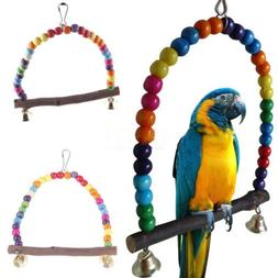 Pet Wood Swing Bird Parrot Cage Toys for Parakeet Cockatiel