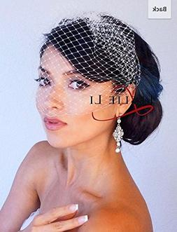 Leslie Li Women's Petite Bridal Birdcage Veil French Net Vei