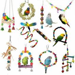 Pets Bird Parakeet Cockatiel Budgie Parrot Hanging Swing Rop
