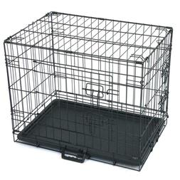 Pets Double-Door Cats And Dogs Cage With Divider Plastic Tra