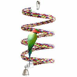 Petsvv Perches 0.6-Inch By 43-Inch, Bird Perch, Rope Bungee