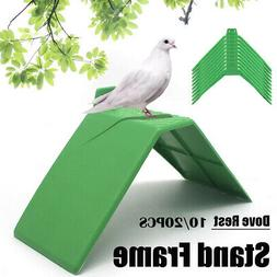 Pigeons Doves Rest Stand Parrot Cages Holder Frame Perches R
